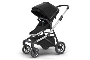 Детская коляска Thule Sleek Aluminum/MidnightBlack