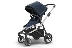 Детская коляска Thule Sleek Aluminum/NavyBlue