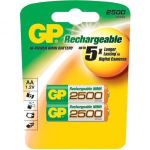 Аккумулятор AA, GP 250AAHC, 1.2V, 2500mAh, NiMh, 2шт