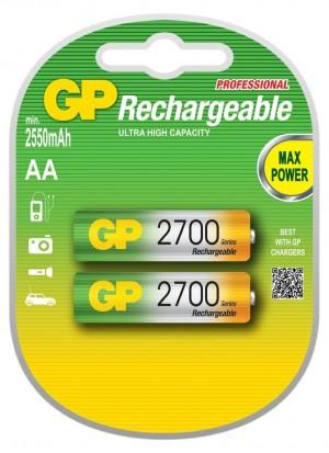 Аккумулятор AA, GP 270AAHC, 1.2V, 2700mAh, NiMh, 2шт