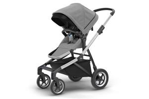 Детская коляска Thule Sleek Aluminum/GrayMelange