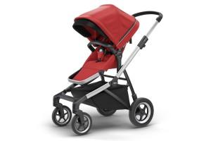 Детская коляска Thule Sleek Aluminum/EnergyRed