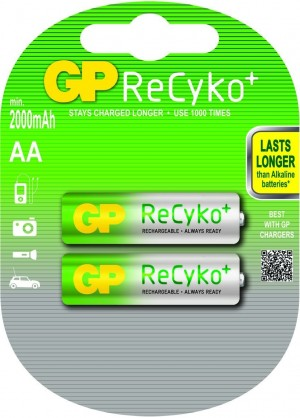 Аккумулятор GP ReCyko+ AA, 2000 mAh